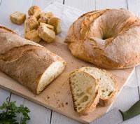 Εικόνα συνταγής για Χωριάτικο Ψωμί με Μεγάλη Κυψέλωση