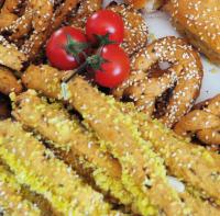 Εικόνα συνταγής για Κριτσίνι Kαλαμποκιού και Τομάτας