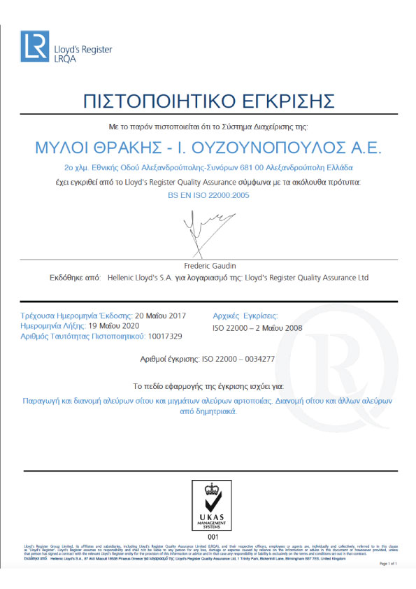 ISO 22000 Certification